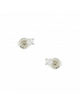 Σκουλαρίκι Ortaxidis Λευκόχρυσο με Ζιργκον oro105