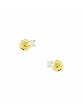 Σκουλαρίκι Ortaxidis Χρυσό με Ζιργκόν oro106
