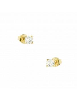 Σκουλαρίκι Ortaxidis Χρυσό με Ζιργκόν oro194