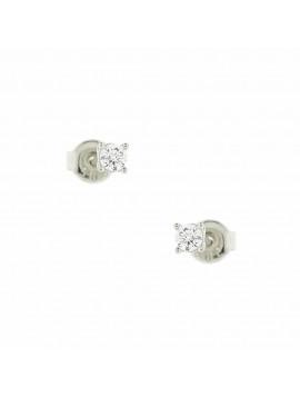 Σκουλαρίκι Ortaxidis Λευκόχρυσο με Ζιργκόν oro108