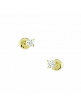 Σκουλαρίκι Ortaxidis Χρυσό με Ζιργκόν oro109
