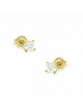 Σκουλαρίκι Ortaxidis Χρυσό με Ζιργκόν oro152