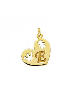 Μενταγιόν-Μονόγραμμα Χρυσό Καρδιά Μ001428