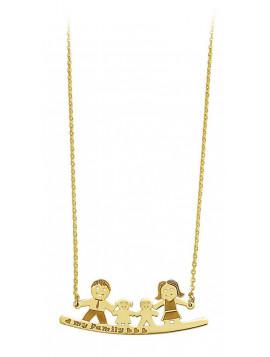 Κολιέ Οικογένεια Ortaxidis Χρυσό 14 Καράτια Μ001448