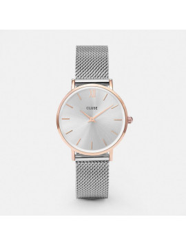Cluse Minuit Mesh Rose Gold/Silver CL30025