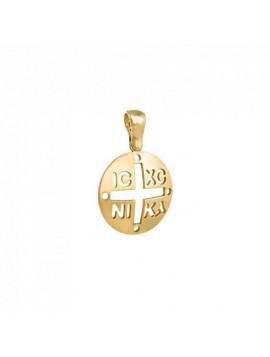 Φυλαχτό Κωνσταντινάτο Χρυσό Ματ ΖΜΕ1763