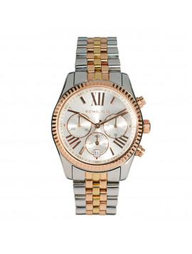 Michael Kors Ladies Lexington Three Tone Watch MK5735