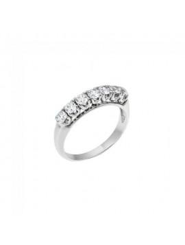 Δαχτυλίδι Ortaxidis Σειρέ Λευκόχρυσο d004167