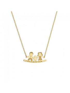Κολιέ Οικογένεια Ortaxidis Χρυσό Μ001447-14