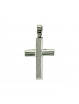 Σταυρός Λευκόχρυσος 14 Καράτια 5ΔΟ.193ΛΣΤ-1
