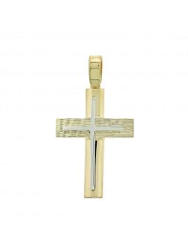 Σταυρός Χρυσός 14 Καράτια 5ΔΟ.217ΣΤ-1