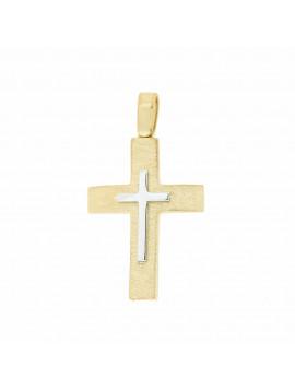 Σταυρός Ανδρικός Χρυσός 14 Καράτια 5ΔΟ.394ΣΤ