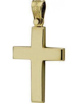 Σταυρός Triantos, Ανδρικός Χρυσός 14ct ST436T