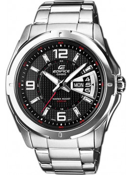 CASIO Edifice Stainless Steel Bracelet Black Dial EF-129D-1AVEF