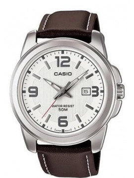 CASIO Collection Brown Leather MTP-1314L-7AVEF