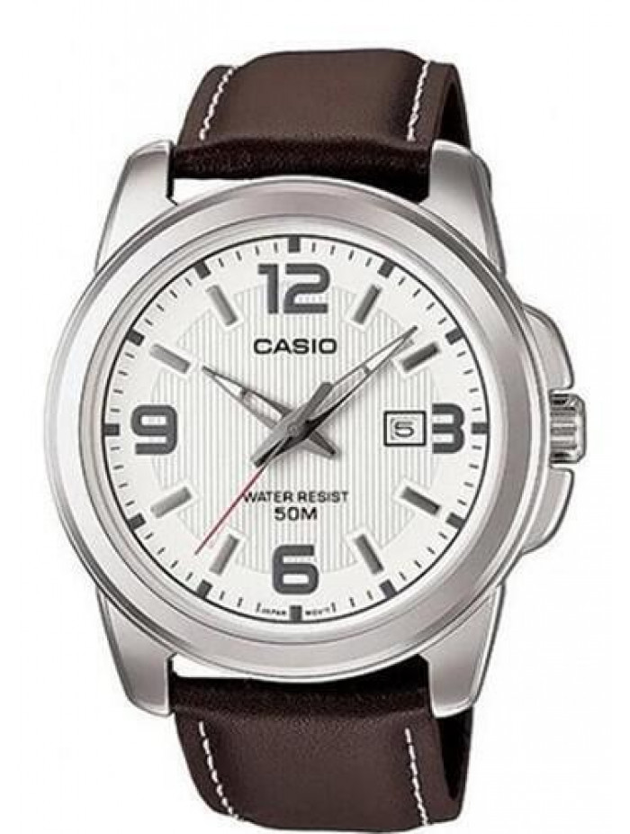 CASIO Collection Brown Leather MTP-1314L-7AVEF 3c0bf439b6e
