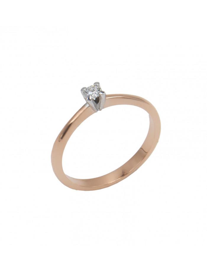 Δαχτυλίδι Μονόπετρο Ροζ Χρυσο 18 Καρατίων Με Διαμάντι DJ061 5271f8a2f27