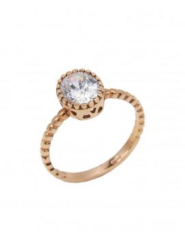 Δαχτυλίδι Μονόπετρο Ροζ Χρυσό 14 Καράτια Με Ζιργκόν oro417 bb64735403c
