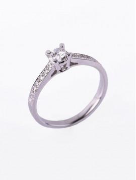 Δαχτυλίδι Μονόπετρο,Λευκόχρυσο Με Διαμάντι DD02