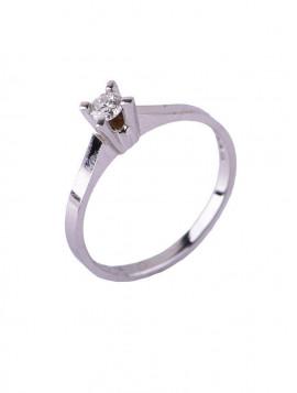 Δαχτυλίδι Μονόπετρο Λευκόχρυσο Με Διαμάντι DD03