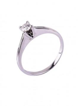 Δαχτυλίδι Μονόπετρο, Λευκόχρυσο Με Διαμάντι DD05