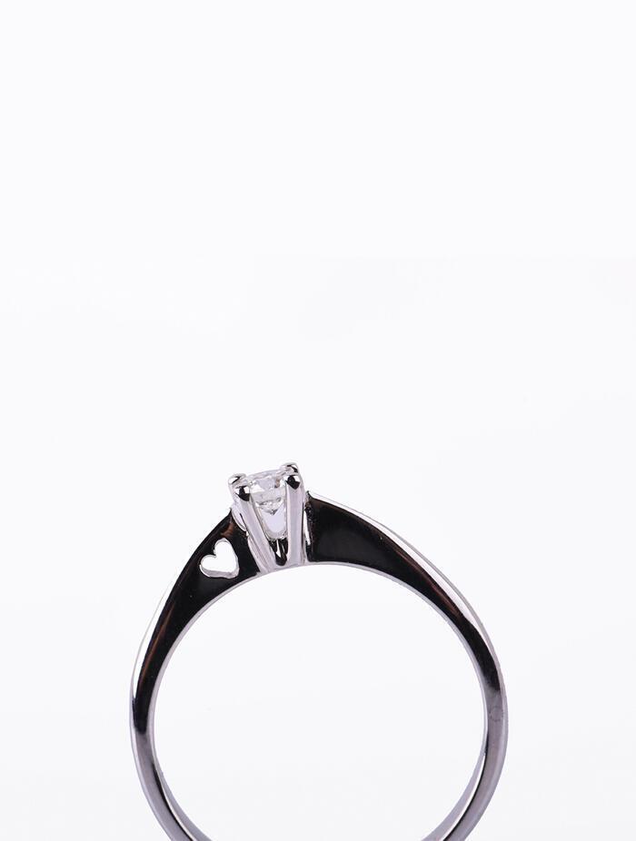 Δαχτυλίδι Μονόπετρο Λευκόχρυσο 14 καράτια Με Πέτρα Ζιργκόν orod09 27e869b6dc7