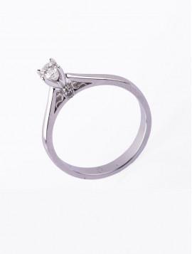 Δαχτυλίδι Μονόπετρο, Λευκόχρυσο Με Διαμάντι DD06