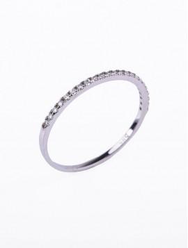 Δαχτυλίδι Σειρέ, Λευκόχρυσο Με Λευκά Ζιργκόν orod01