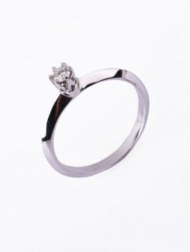 Δαχτυλίδι Μονόπετρο, Λευκόχρυσο Με Διαμάντι DD07