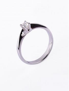 Δαχτυλίδι Μονόπετρο,Λευκόχρυσο Με Διαμάντι DD04
