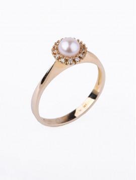 Δαχτυλίδι Χρυσό Με Μαργαριτάρι D016