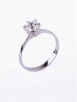 Δαχτυλίδι Μονόπετρο Λευκόχρυσο Με Ζιργκόν D025