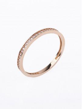 Δαχτυλίδι Ροζ Χρυσό Με Ζιργκόν D041