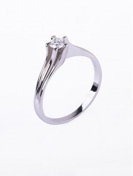 Δαχτυλίδι Μονόπετρο Λευκόχρυσο Με Ζιργκόν D032
