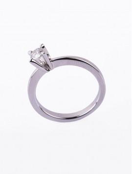 Δαχτυλίδι Μονόπετρο Λευκόχρυσο Με Διαμάντι DD15