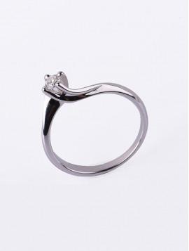 Δαχτυλίδι Μονόπετρο Λευκόχρυσο Με Διαμάντι DD16