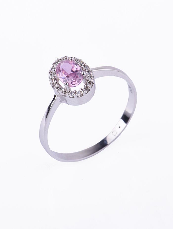 Δαχτυλίδι Λευκόχρυσο Με Λευκά Και Ροζ Ζιργκόν D030 8f19184d5cc