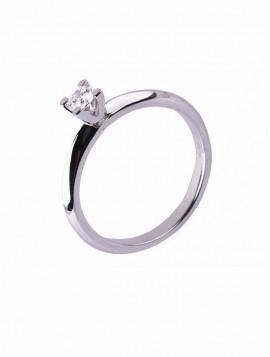 Δαχτυλίδι Μονόπετρο Λευκόχρυσο Με Διαμάντι D018