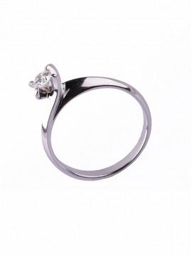Δαχτυλίδι Μονόπετρο Λευκόχρυσο Με Διαμάντι DD17