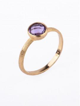 Δαχτυλίδι Χρυσό Με Αμέθυστο D018
