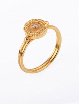 Δαχτυλίδι Χρυσό 18ct Με Διαμάντι DD12