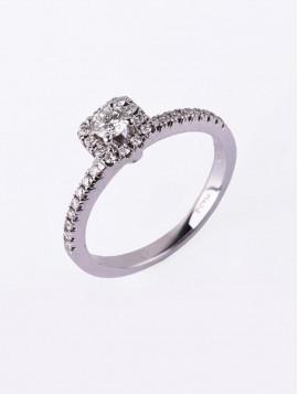 Δαχτυλίδι Μονόπετρο Λευκόχρυσο Με Διαμάντι DD14
