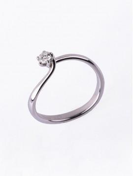 Δαχτυλίδι Μονόπετρο Λευκόχρυσο Με ΔΙαμάντι DD19