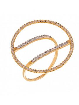 Δαχτυλίδι Χρυσό Με Λευκές Πέτρες 066713