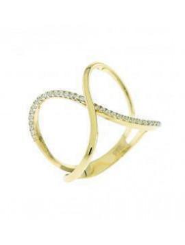 Δαχτυλιδι Χρυσό 14 Καράτια Με Ζιργκόν Πέτρες 5fm.316r