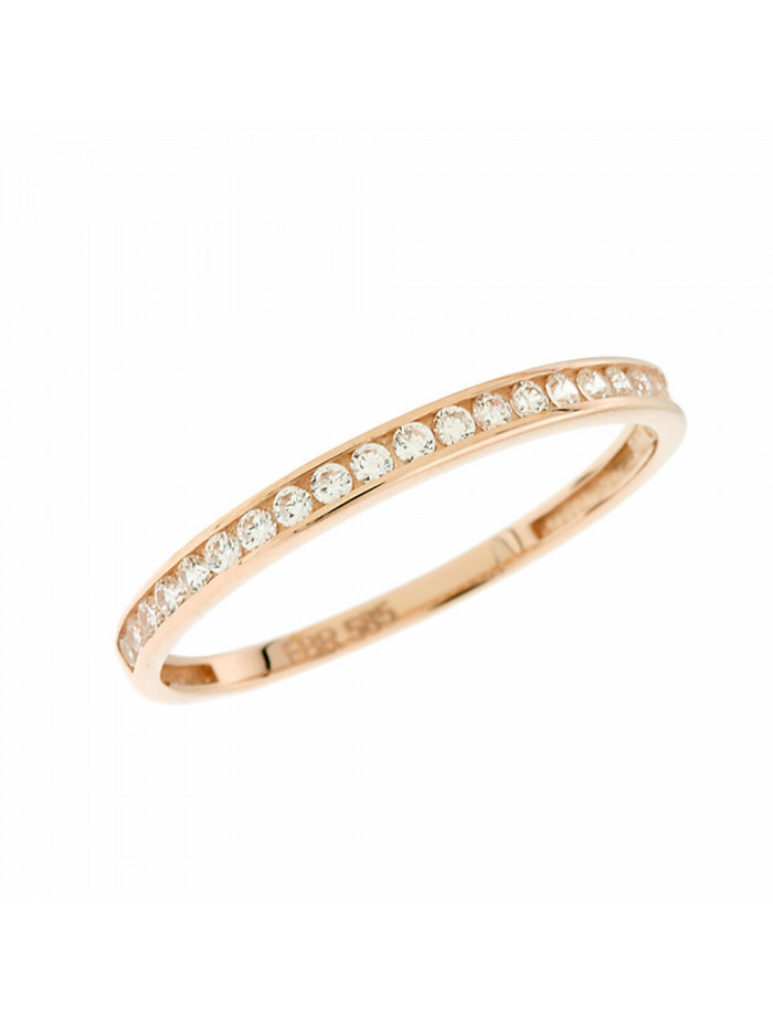 Δαχτυλίδι Ροζ Χρυσό 14 Καράτια Με Ζιργκόν 5fm.2171rr 11d4ad57b34