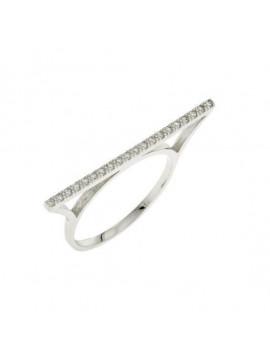 Δαχτυλίδι Λευκόχρυσο 14 καράτια με Ζιργκόν 5fm.2853br