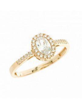 Δαχτυλιδι Ortaxidis Ροζ Χρυσό 14 Καράτια Με Ζιργκόν Πέτρες 5fm.34710rr