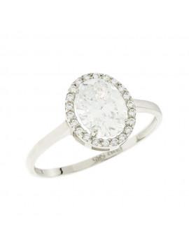 Δαχτυλίδι Λευκόχρυσο 14 καράτια Με Ζιργκόν 5fm.6410br