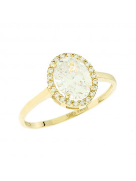 Δαχτυλίδι Χρυσό 14 Καράτια Με Ζιργκόν 5fm.6410r